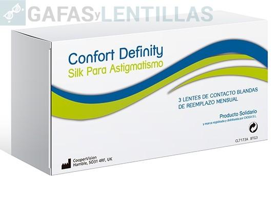 CONFORT DEFINITY SILK TORIC CAJA 3 LENTILLAS