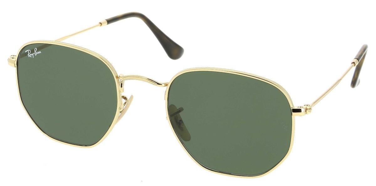 RAY-BAN 3548 HEXAGONAL FLAT LENSES ORO Verde Clásica G-15