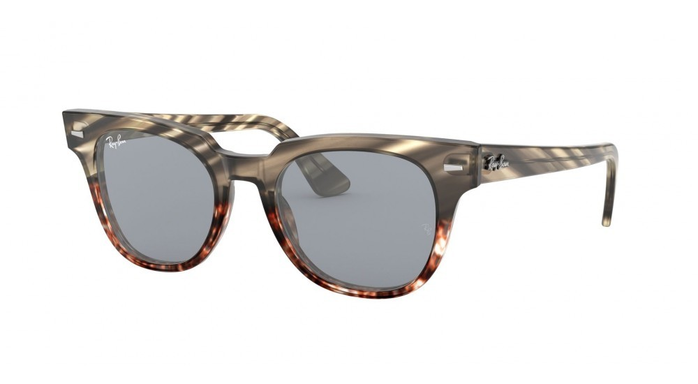 RAY-BAN 2168 METEOR STRIPED HAVANA Striped Grey Gradient Brown; Gris Azul Washed