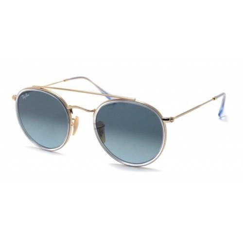 RAY-BAN 3647 ROUND DOUBLE BRIDGE Transparente; Bronce-Cobre Azul claro Degradada
