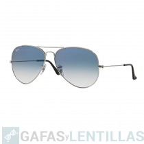 RAY-BAN AVIATOR LARGE 3025 PLATA 003/3F Azul claro Degradada