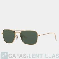 RAY-BAN 3136 CARAVAN Oro Verde Clásica G-15