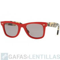 RAY-BAN ORIGINAL WAYFARER POP 2140 1243/P2  ROJO POLARIZADO