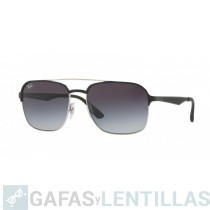 RAY-BAN 3570 NEGRO Gris Degradada