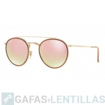 RAY-BAN 3647 ROUND DOUBLE BRIDGE Oro Cobre Gradient Flash